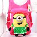children's backpack Cute 3D eyes Despicable Me Minion Plush Backpack Child PRE School Kid Boy and Girl Cartoon Bag School bag