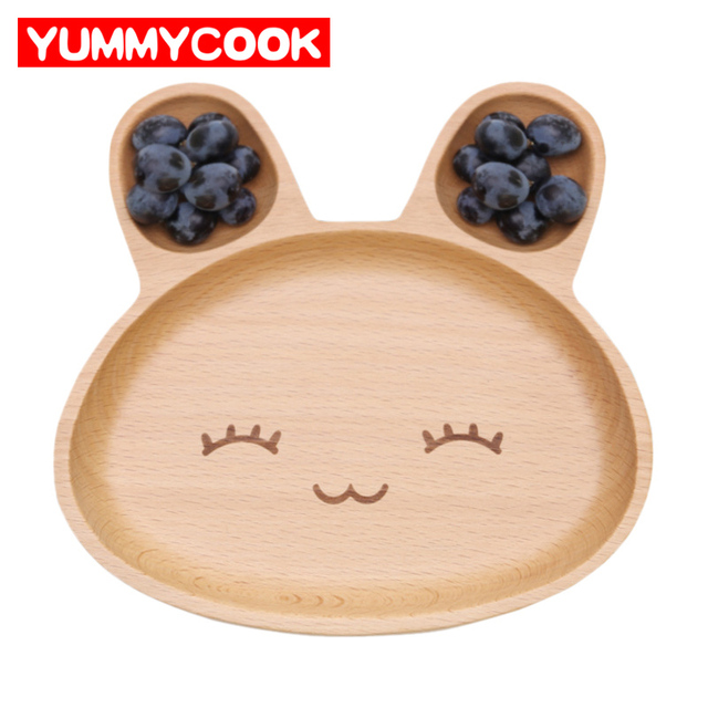Wooden Kids Cartoon Rabbit Divided Dinner Plates Picnic Food Fruits Dishes Kitchen Gadgets Accessories Supplies Stuff  sc 1 st  AliExpress.com & Wooden Kids Cartoon Rabbit Divided Dinner Plates Picnic Food Fruits ...