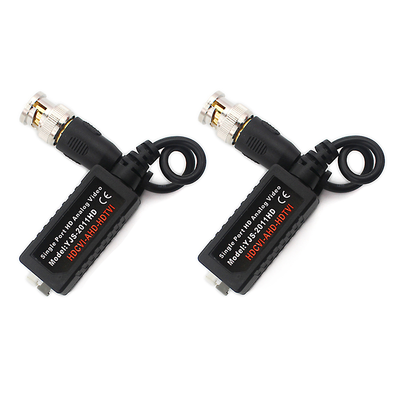 CVI TVI AHD Video Balun support 720P 1080P camera CCTV Passive BNC Video Balun to UTP Transceiver Connector single channel passive video balun grey silver 2 pcs