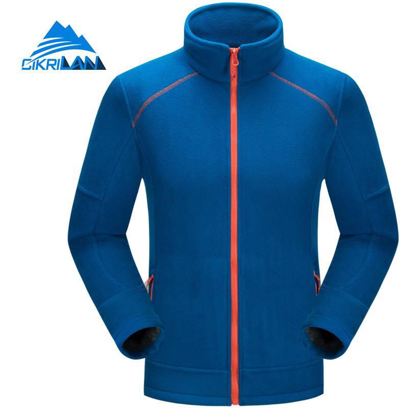 New Mens Warm Sport Camping Hiking Full Zip Long Sleeve Coat Outdoor Polar Fleece Jacket Men Climbing Fishing Jaqueta Masculino
