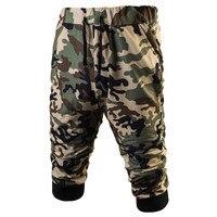 Mens Military Camouflage Shorts 2017 Summer Bodybuilding Sweat Shorts Army Camo Casual Mama Shorts Harem Capri