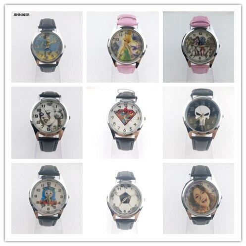 10 шт./лот смешанная оптовая новые поступление 3D мультфильм Дизайн кварцевые часы Для женщин Для мужчин студентов Детская вечеринка кожа нар...