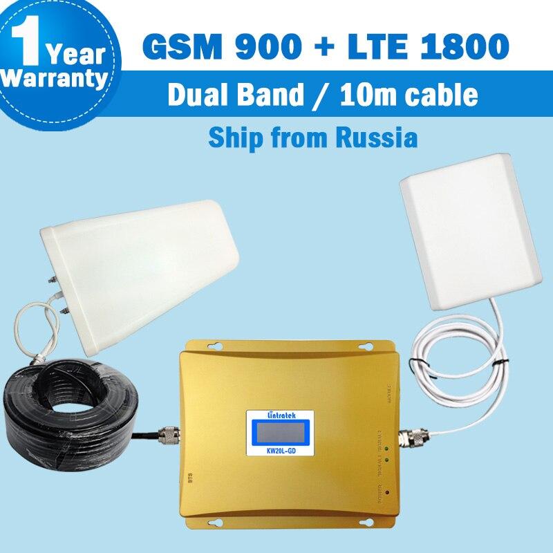 Navire De Russie 4g répéteur Booster GSM 900 4G LTE 1800 Répéteur de Signal Mobile Téléphone Antenne affichage Amplificateur Repetidor S20