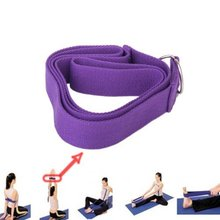Super sell 1 PCS 67 exercise Yoga Stretching Strap Cotton Belt Pilates Fitness