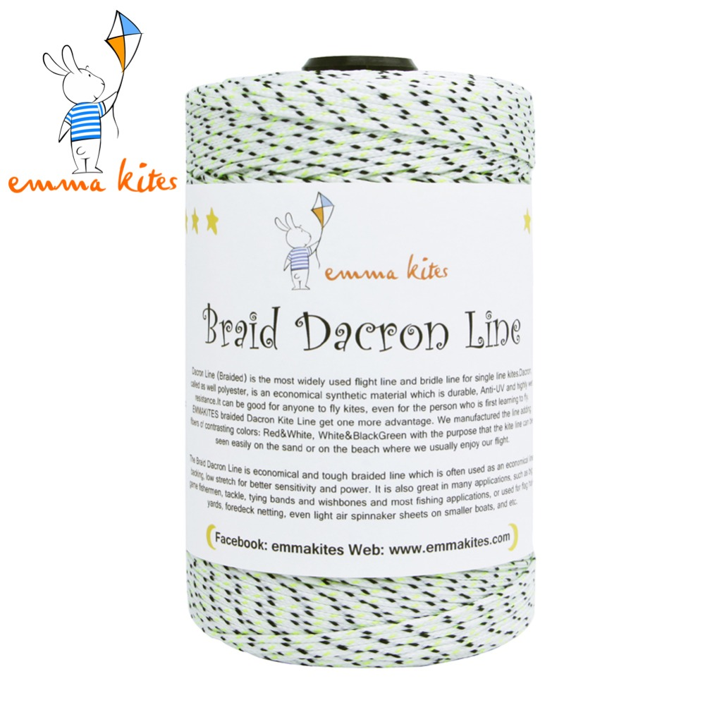 Kite Line String 1000ft 300lb Braided Dacron Line for Fishing Delta Kite Flying String Outdoor Cord