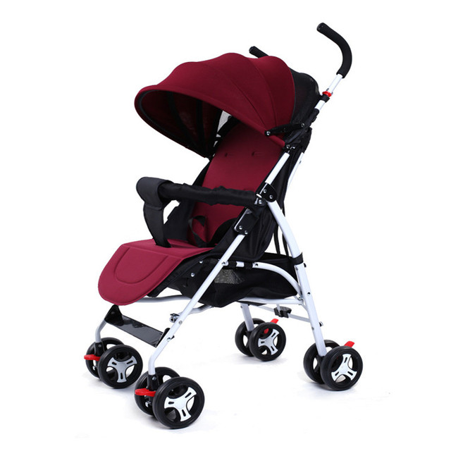 Lightweight Baby Strollers Folding Portable Baby Pushchair Baby Carriage Trolley Kinderwagen Multifunction Stroller Carrier Cart
