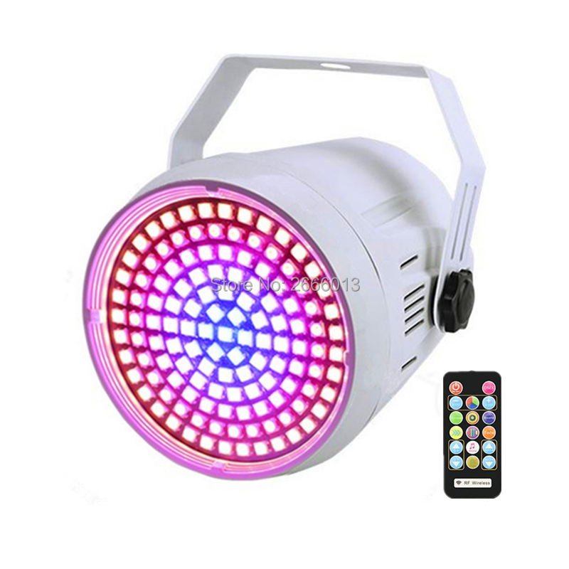 New LED Stage Lighting 127pcs LEDs Round Colorful Bar KTV Flash DMX/Auto/Sound Control Strobe Effect Light With Remote Control