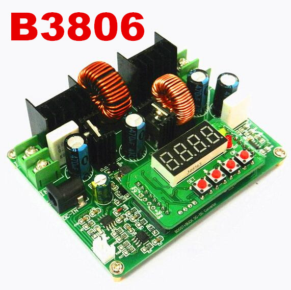 LED driver DPS-3806 high-precision CNC B3806 DC-DC constant high voltage module current buck  solar charging memory function nd nd 120w ac 110 220v to dc 12v 120w 10a industrial led switching power supply silver