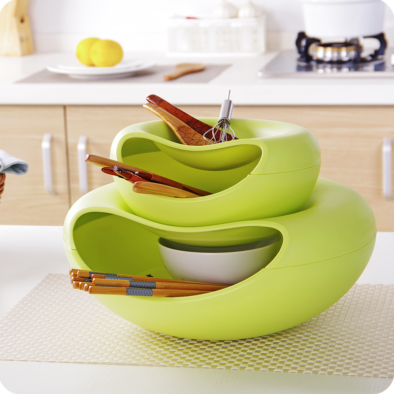 2 in 1 fruit candy dish toilet cosmetics storage box snack decorative serving trays nutshell trash cheap office storage