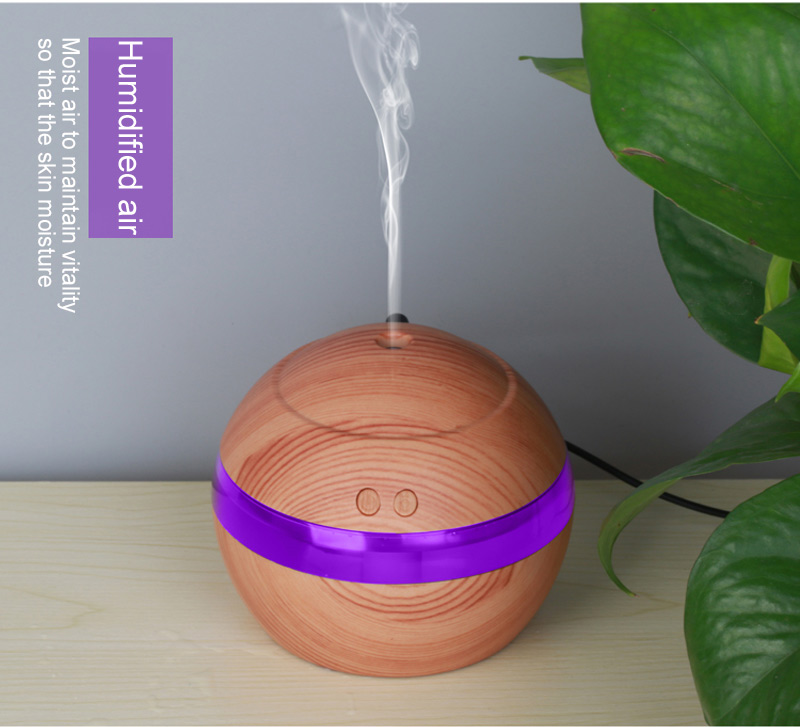 130ML Wood Grain Aroma Essential Oil Diffuser USB Charging Air Humidifier With Colorful Night Light Ultrasonic Mist Maker