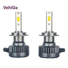 Vehigo mini h7 h1 h3 h4 h11 9005 9006 9007 9012 5202 880 светодиодные