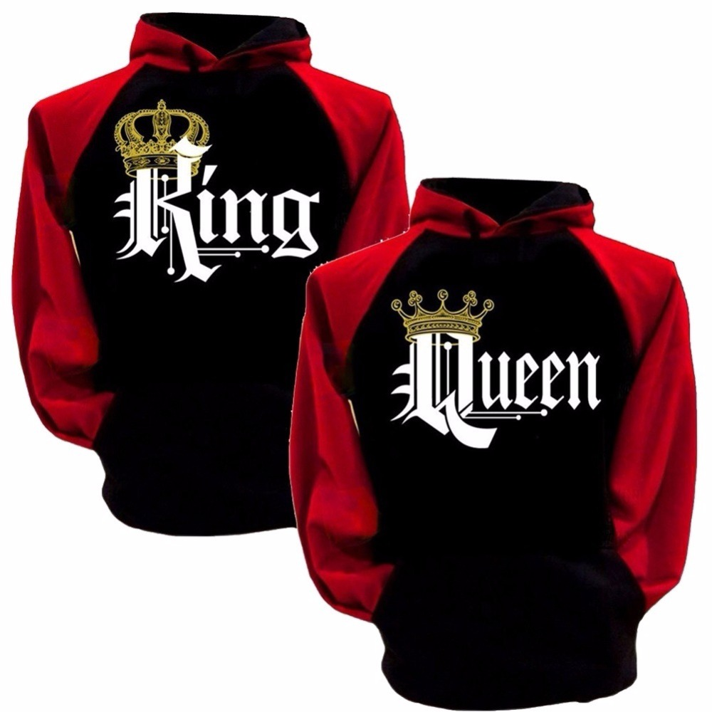 hot valentine couple hoodies sweatshirt lovers king queen. Black Bedroom Furniture Sets. Home Design Ideas