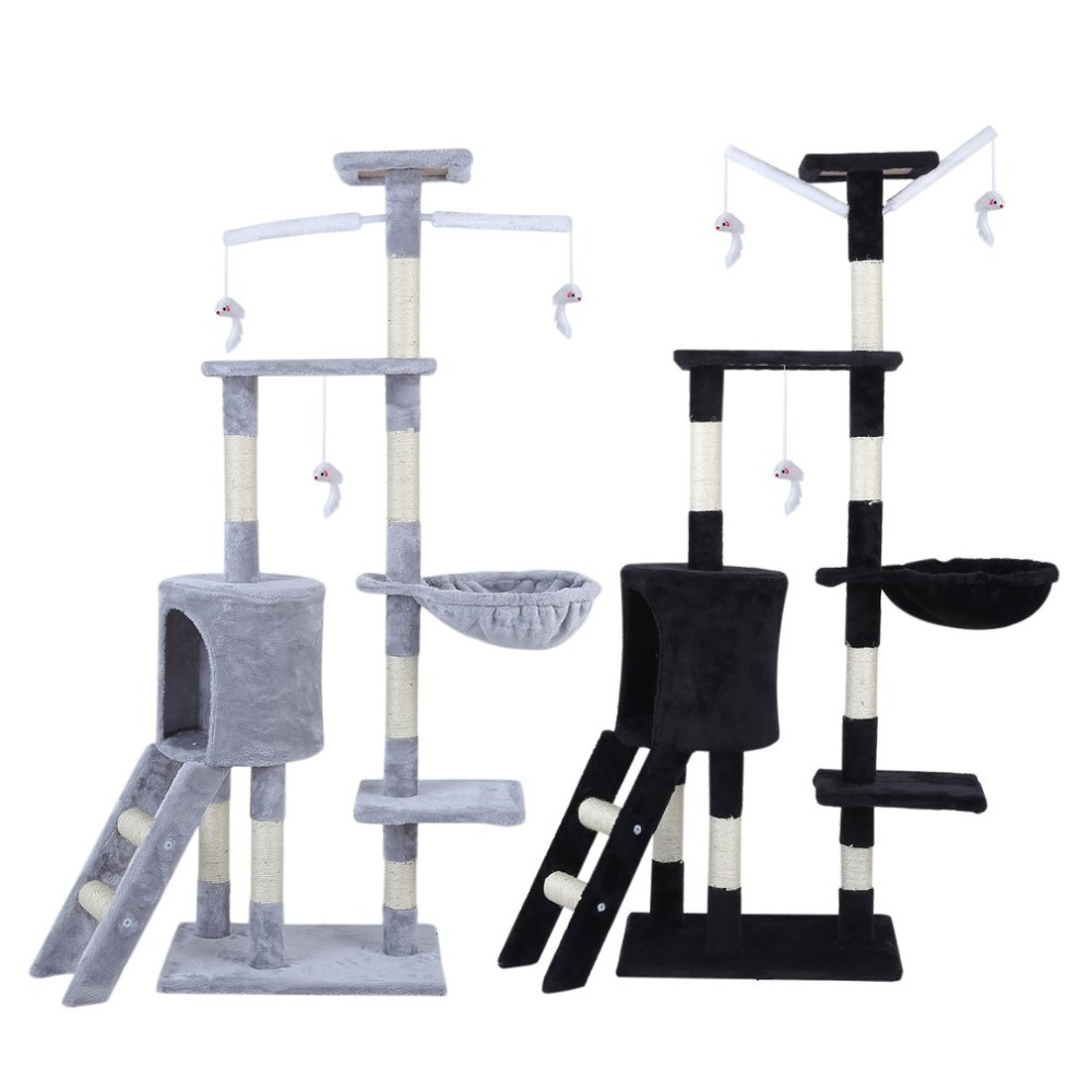 3 Colors Multifunctional Cat'S Tree Scratcher Scratching Fun Post Climbing Toy Activity Centre Protect Home Furniture Pet House
