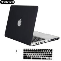 Mosiso acessórios para notebook  acessórios para notebook mac pro macbook pro 13 15 com cd drive a1278 a1286 ano 2008-cobertura de silicone para 2012 +