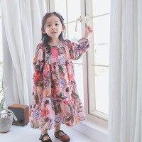 Summer Girls Beach Dress Flower Dress For Girls Wedding Dress Children Clothing Kids Clothes
