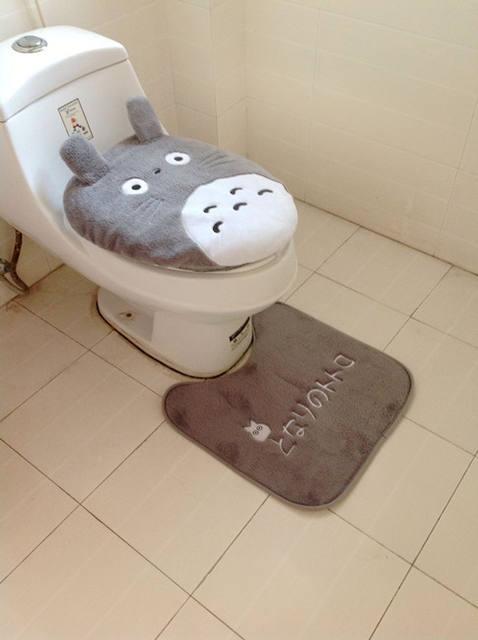 Super Soft Totoro Potty Sets Toilet  (3Pcs)