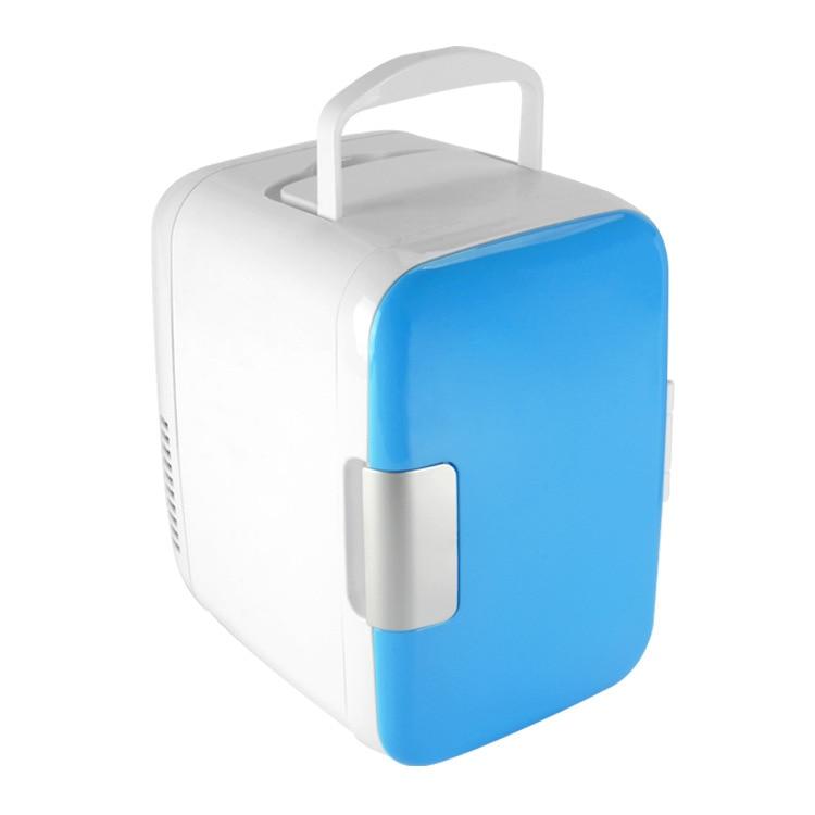 Portable Mini Home Car Fridge  4L Warm Cold Dual Use 12V 220V Mini Home Car Refrigerator Cooler Box Mini Frigo Travel Use