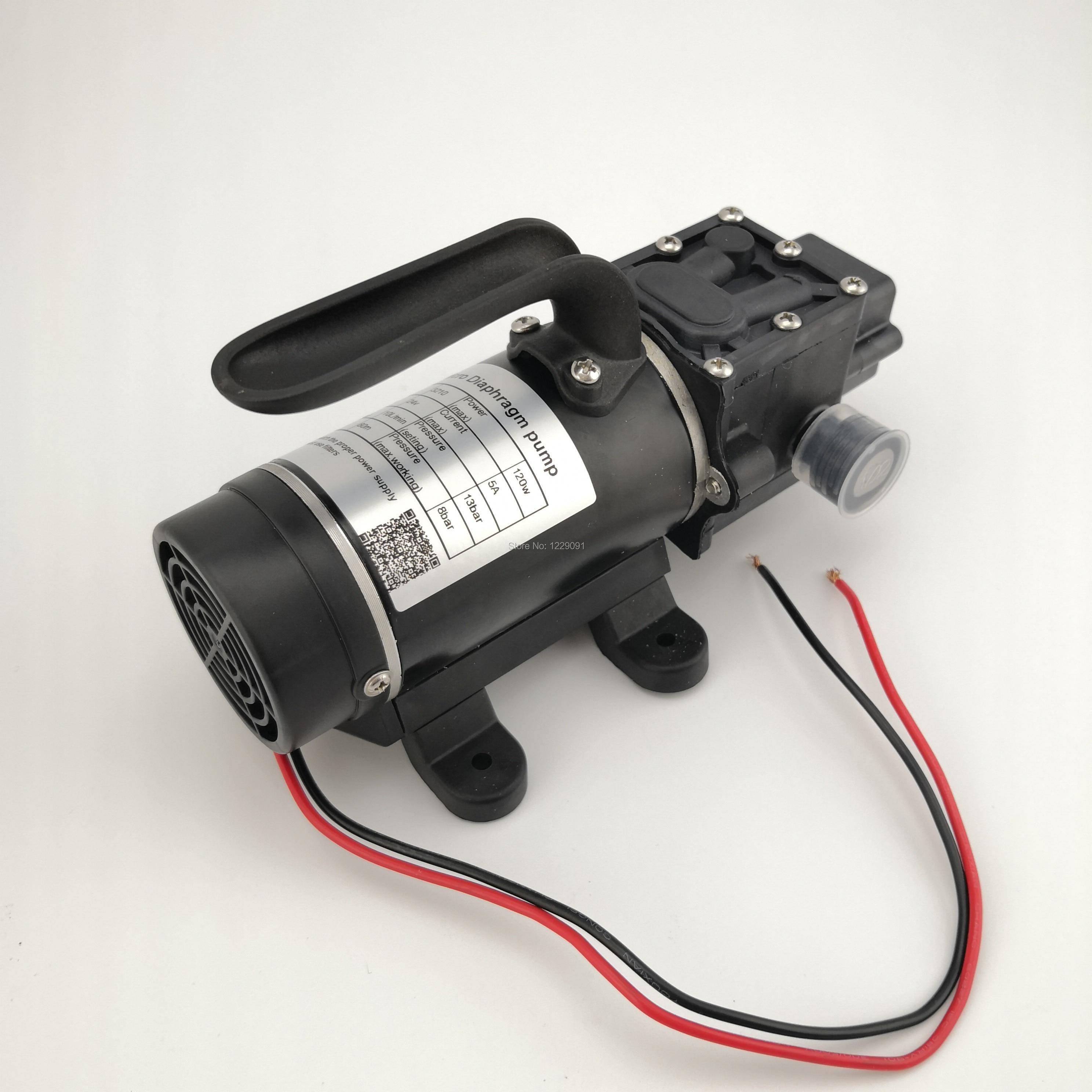 10L min 120W electric high pressure self priming small dc Water Pump Diaphragm pump 12v 24v
