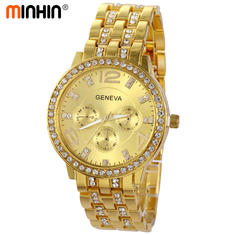 MINHIN Luxury Women Dress Watches New Design Quartz Wristwatches Fashion Casual Gold/Silver/Rose Gold Colors Bracelet WatchMINHIN Luxury Women Dress Watches New Design Quartz Wristwatches Fashion Casual Gold/Silver/Rose Gold Colors Bracelet Watch