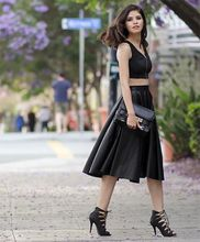 f7abf60cc3 Buy long black leather skirt and get free shipping on AliExpress.com