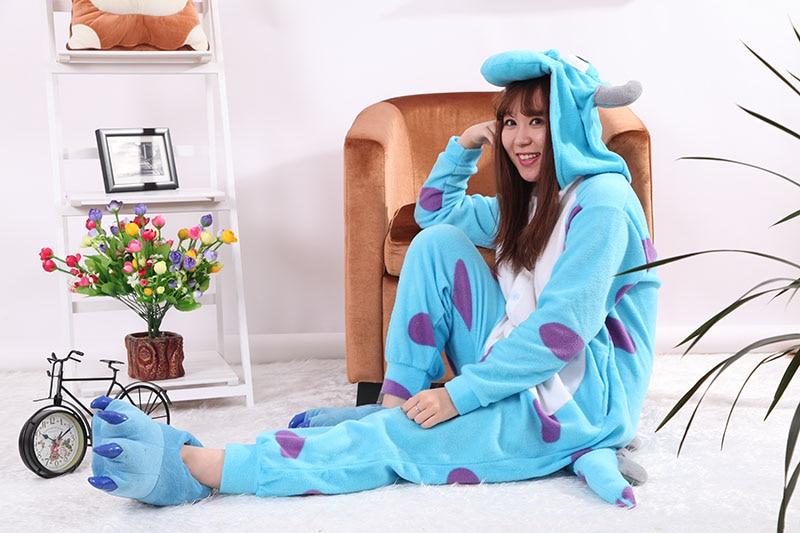 2b89b19087 Traje de dormir Unisex enterizo azul Toro de Sullivan pijamas adultos  Cosplay disfraces Animal Onesie ropa de dormir Mono para hombre Famale en  Disfraces ...