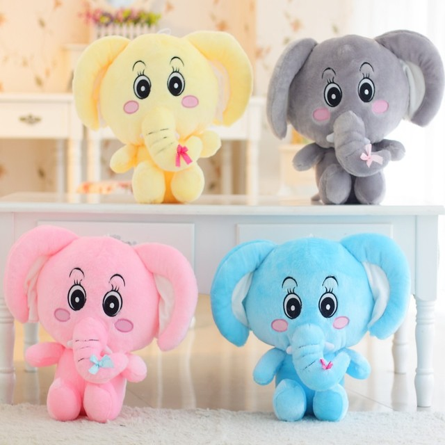 Creative Cute Doll Lovers Elephant Plush Toys Birthday Gift For Valentines Day