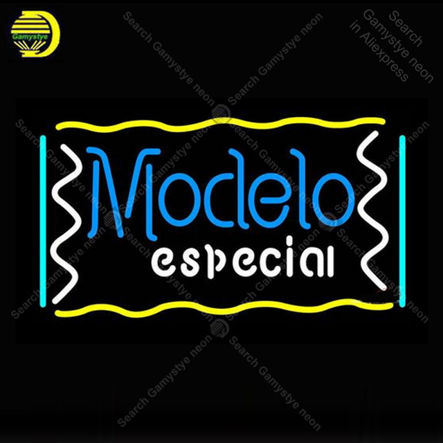 Modelo Especial Neon Sign Glass Tube Handmade neon light Sign Decorate Hotel Beer Bar Pub club Iconic Neon Light Lamp Advertise