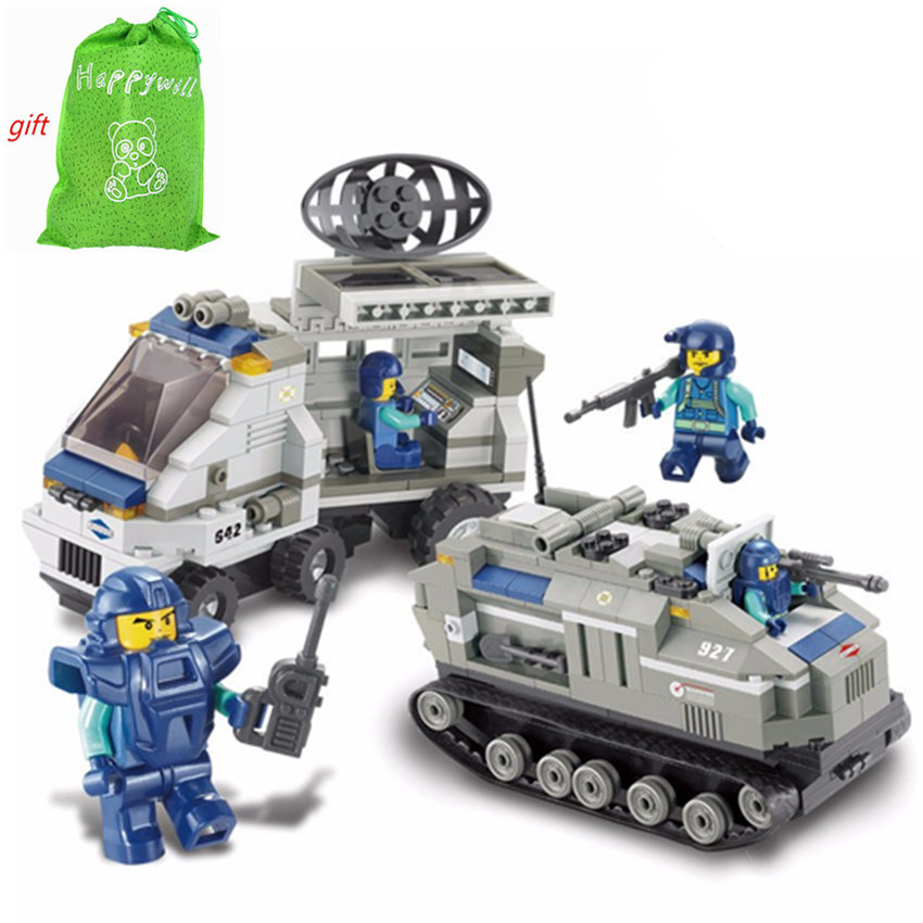 Happwill 0207 449pcs Building Blocks Military Special Forces Tanks Children Toy Model Bricks Kids Gift toys for children 8 in 1 military ship building blocks toys for boys