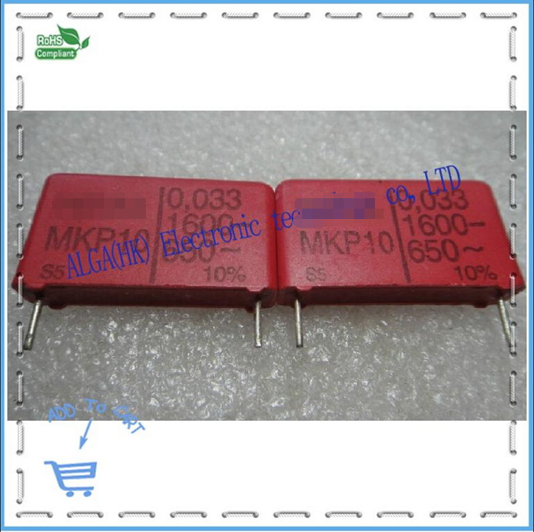 Passive Components Capacitors Imported From Abroad Wei Ma Mkp 10 Film Capacitor 0.033 Uf Nf 33 333/1600 V P = 22.5 Mm