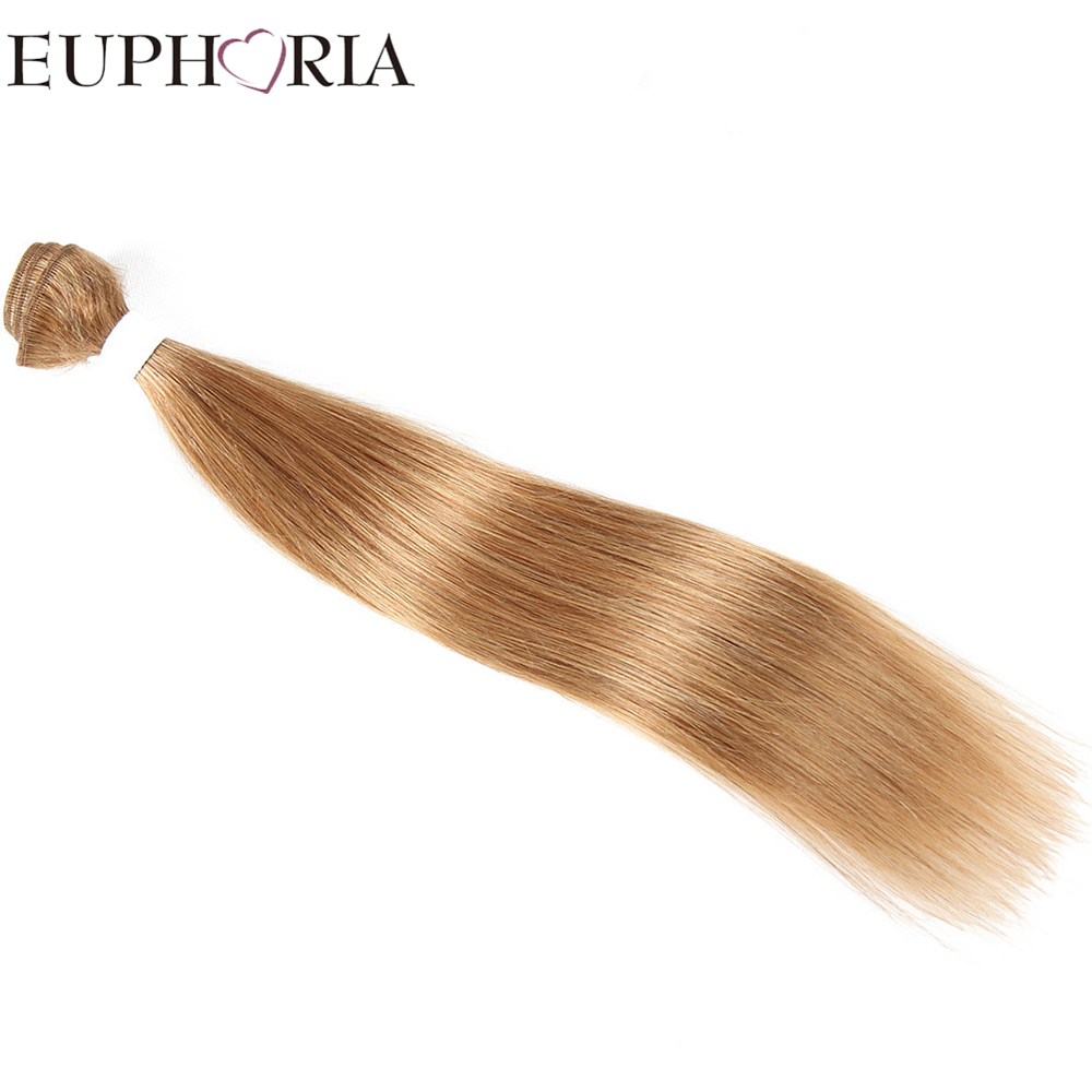 EUPHORIA Human Hair Weave Bundles Peruvian Straight 8-26inches Hair Weft 1 Piece Only Bl ...