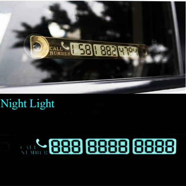 15*2cm Telephone Number Card Temporary Car Parking Card Notification Night Luminous Sucker Plate Phone Number Card