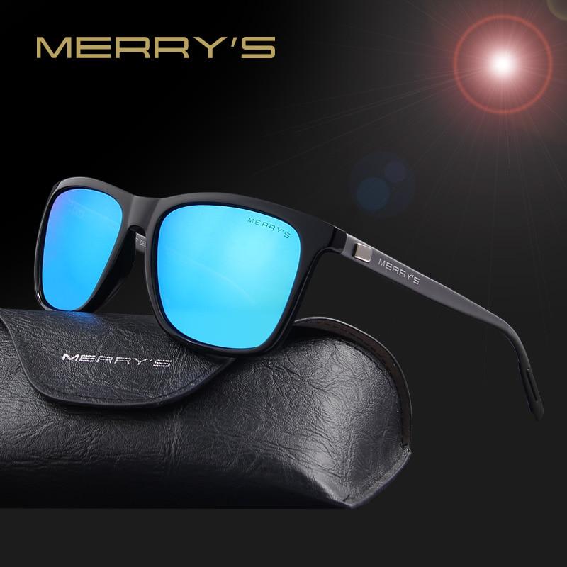 fab540a4329 MERRY S Unisex Retro Aluminum Sunglasses Polarized Lens Vintage Sun Glasses  For Men Women S 8286