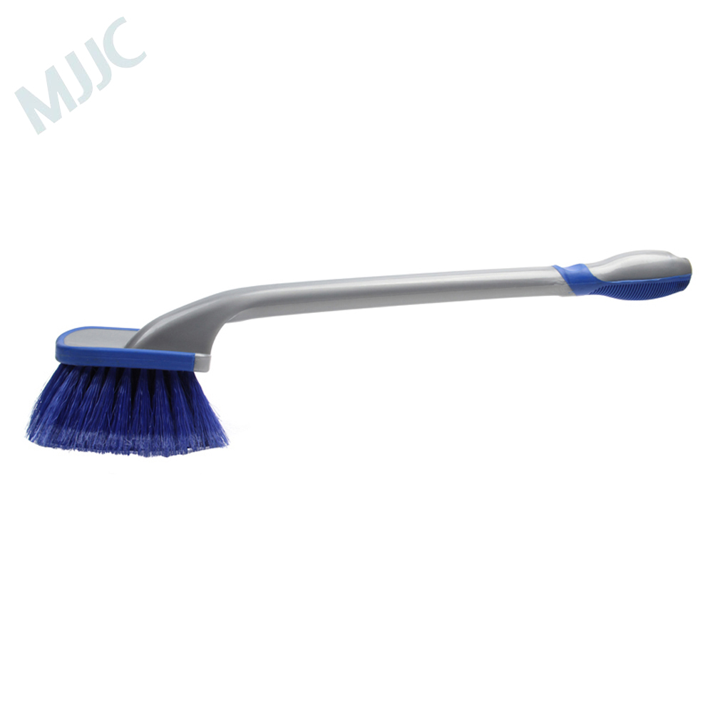 MJJC Multi-Functional <font><b>Car</b></font> Tyre Cleaning <font><b>Brush</b></font> <font><b>Wheel</b></font> Washing Tool Anti-Slip Soft Handle Long Type Automobile <font><b>Cleaner</b></font> Accessories image