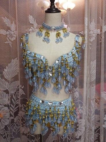 Певица DSDJ Кулон синий кристалл сексуальная женщина сценический костюм для бар партии этап певица танцор star производительность ночной клуб шоу