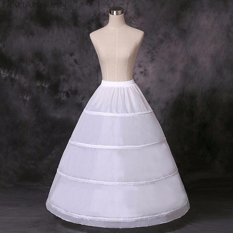 2018 Cheap Long Wedding Bridal Petticoats for Wedding Dress 4 Hoop Ball Gown Crinoline Petticoat Wedding