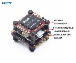 Image 1 - GEPRC стабильный F4, мини летучая мышь F4, летное управление, Betaflight + 12A/20A, 4 в 1, ESC + 48 каналов, 200 МВт, VTX для микродрона, FPV
