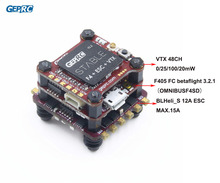 GEPRC stabilna F4 Mini mucha F4 sterowanie lotem Betaflight + 12A/20A BLHELI S 4w1 ESC + 48CH 200mW VTX dla micro Drone FPV