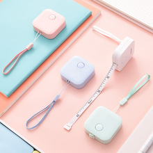 4 pcs/Lot Mini macaron color measuring tape 1.5m metric meter Imperial inch ruler Stationery Office school supplies A6811