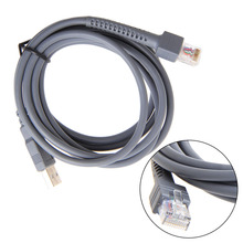 1Pc 2M USB Cable Symbol Barcode Scanner LS1203 LS2208 LS4208 LS3008 CBA-U01-S07ZAR 2m straight usb dada usb cable for honeywell metrologic ms9540 ms9520 ms7120 ms5145 ms9535 barcode scanner