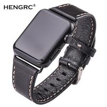 лучшая цена Cowhide Watchbands For Apple Watch Soft Thin 38mm 42mm Black Dark Brown Women Men Genuine Leather Watch Band Strap Belt