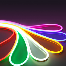 12v led neon rope strip light flexible waterproof ip68 2835 smd 120led white warm white yellow red green blue RGB ice blue цена