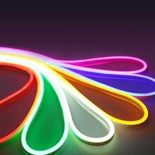 12v neon led taśma linowa lekka elastyczna taśma wodoodporna ip68 2835 smd biały ciepły biały żółty czerwony zielony niebieski RGB lodowy blękit wstążka