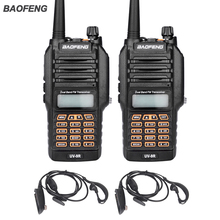 New Baofeng UV-9R Handheld Walkie Talkie 8W UHF VHF Dual Band IP67 Waterproof Ham Two Way Radio For Hunting With Earphone 2PCS