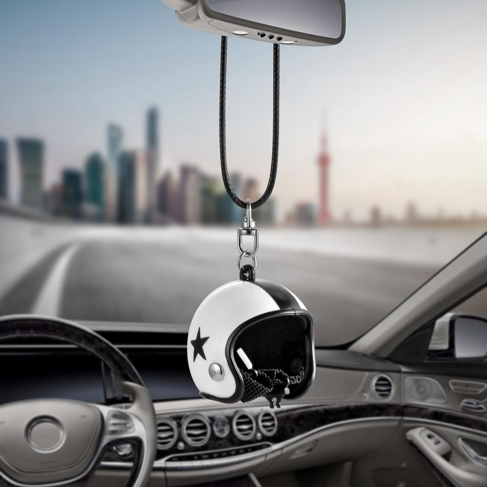 Colgante de coche lindo espejo retrovisor de casco colgante para Juego de tronos de dibujos animados decoración Interior del automóvil accesorios de Adorno