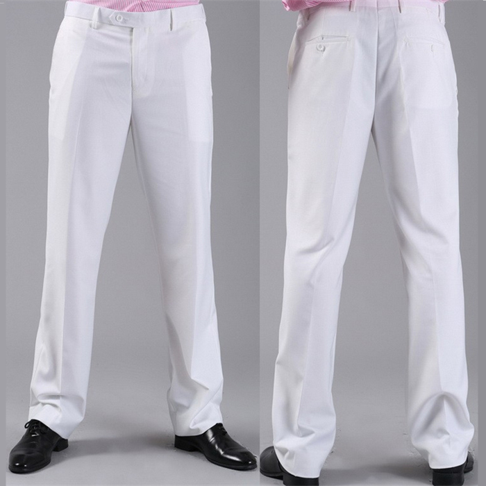 Мужские костюмные брюки модные свадебные формальные 12 цветов повседневные брюки известный бренд блейзер брюки Деловое платье брюки CBJ-H0284 - Цвет: standard white