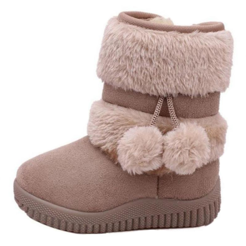 Fashion Girls Boots Thicker Warm Plush Winter Boots For Children Brand Kinder Snow Boots Classic Kids Baby Toddler Boots Shoes