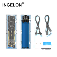 Ingelon Pcle NVMe SSD Enclosure M.2 USB3.1 Type C Sata to usb HDD Case M Key 2230 2242/2260/2280/SSD Box for Laptop PC & Phone