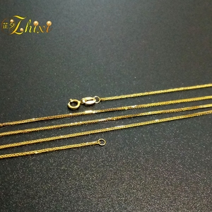 Image 3 - ZHIXI 18K Gold Jewelry Genuine 18K Yellow Gold Chain Long Real Au750 Necklace Pendant Wedding Party Gift For Women ZXX312