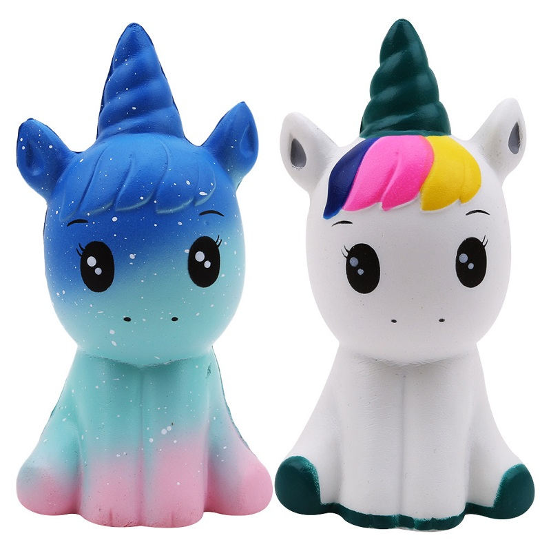 Jumbo Kawaii Colorful Galaxy Unicorn Squishy Doll Slow Rising Stress Relief Squeeze Toys for Baby Kids Xmas Gift 12*6*5CM 11 5cm strawberry scented squishy slow rising squeeze toys jumbo collection anti stress funny toy gift toys for children 2018