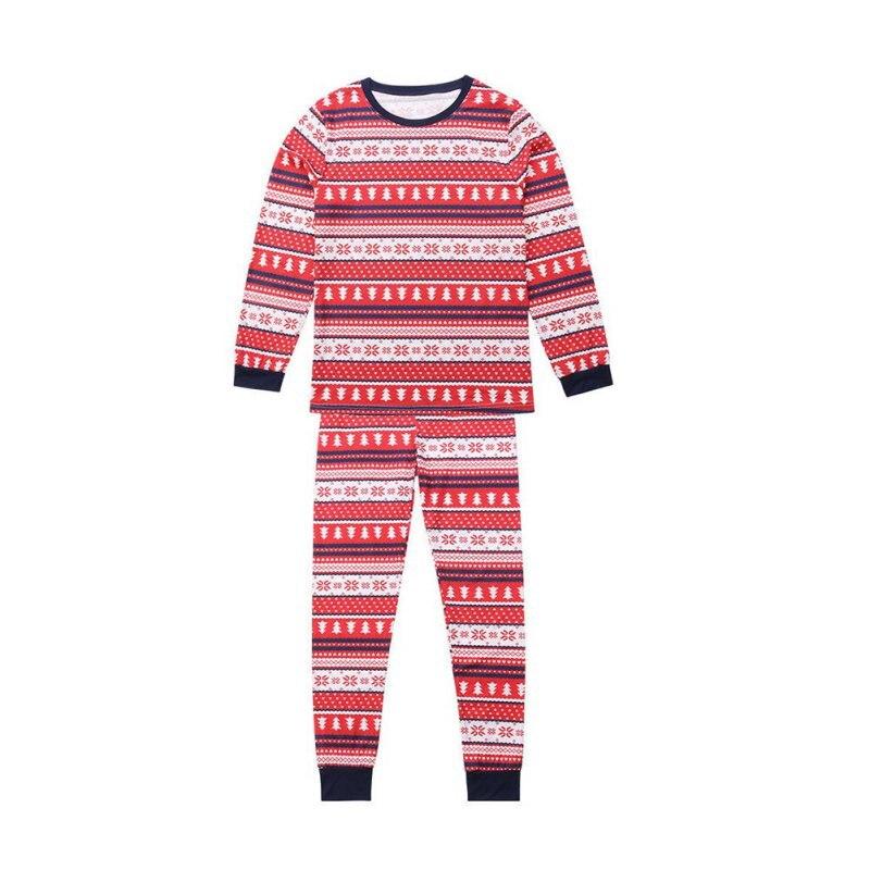 Famille correspondant noël à manches longues pyjamas ensembles femmes hommes bébé enfants famille noël arbres imprimé vêtements ensembles - 4
